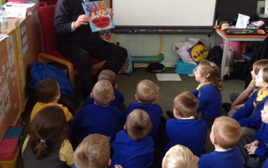 Mystery reader in Reception