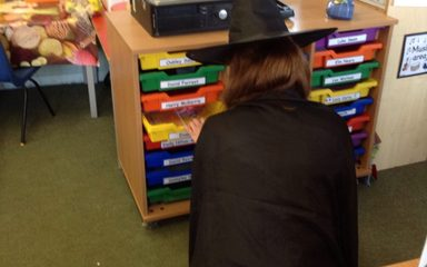 Winnie the Witch visits Reception