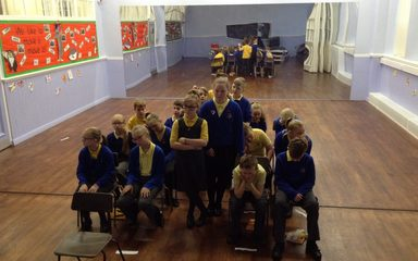 Y6 explore characters through drama.