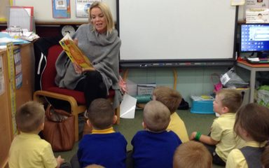 And today's mystery reader in Reception was…