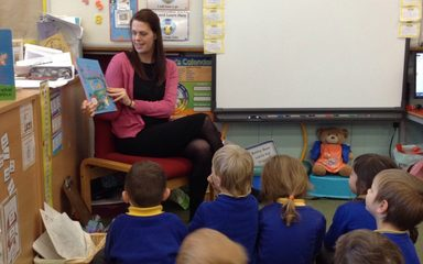 And today's mystery reader in Reception is…