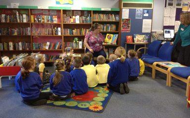 Year 2 visit Blaydon library