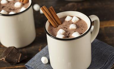 Mmmmmmmmm hot chocolate at Costa