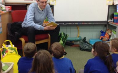 A mystery reader on a cold afternoon