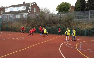 Sport relief football tournament with Crookhill.