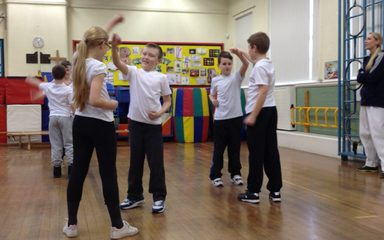 Karate in year 6- defending skills.