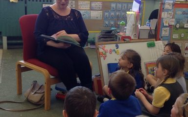 A sunny day and a mystery reader to put a smile on our faces.