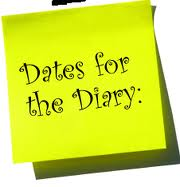 Diary Dates – September 2016 to December 2016