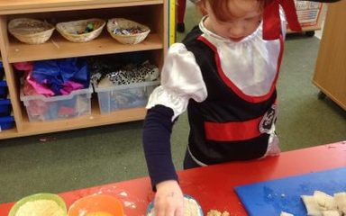 Ahoy me hearties! We all set sail on the Jolly Roger for lots of pirate adventures.