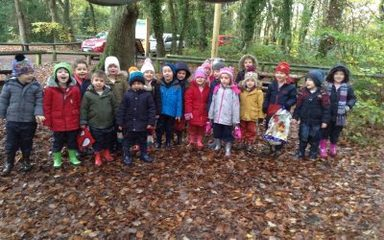 Reception explore Thornley Woods