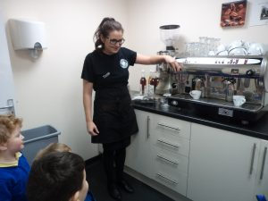 It was interesting to learn how to use the coffee machines.