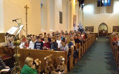 St Cuthbert's Christmas carol service.