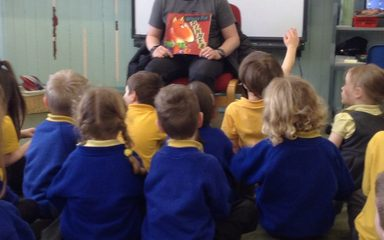Reception love listening to stories!