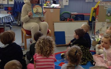 Our mystery reader today was even a mystery to Miss Donnelly
