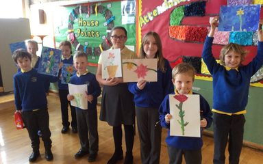 Spring Flowers Art Competition Winners