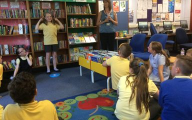 Solving riddles by cracking codes at Blaydon library!