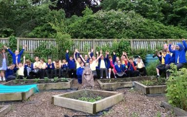 Fun at the school allotment!