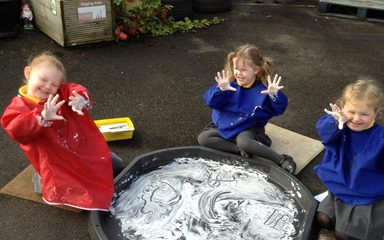 Shaving foam fun!