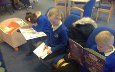Year 4 visit Blaydon Library