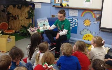An unexpected mystery reader today.