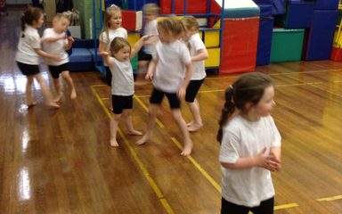 Gymnastics in Reception