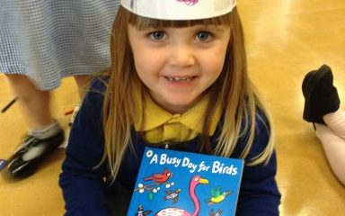 Boogie bird at Blaydon Library