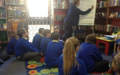 Year 6 library visit.