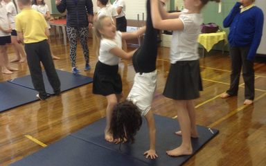 Gymnastics with Grassroots.