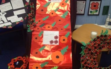 We will remember them: our remembrance station.