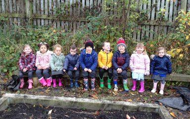 Nursery visit the allotment