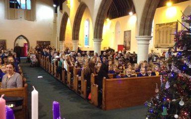 Annual Christmas carol service.