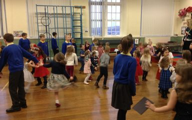 Year 6 party with Reception!