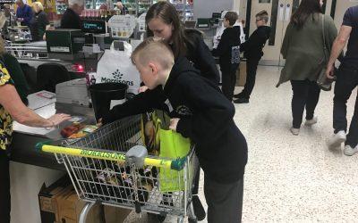 £395 raised at Morrison's bag pack!