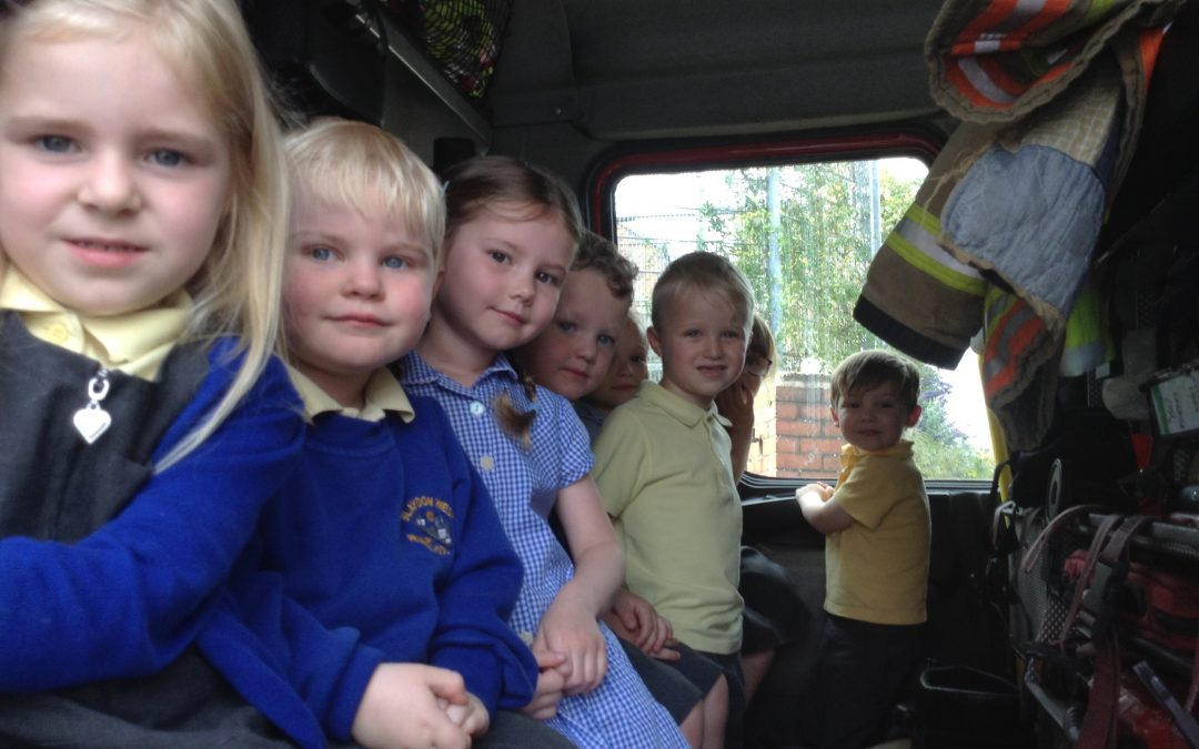 Visit from the firemen