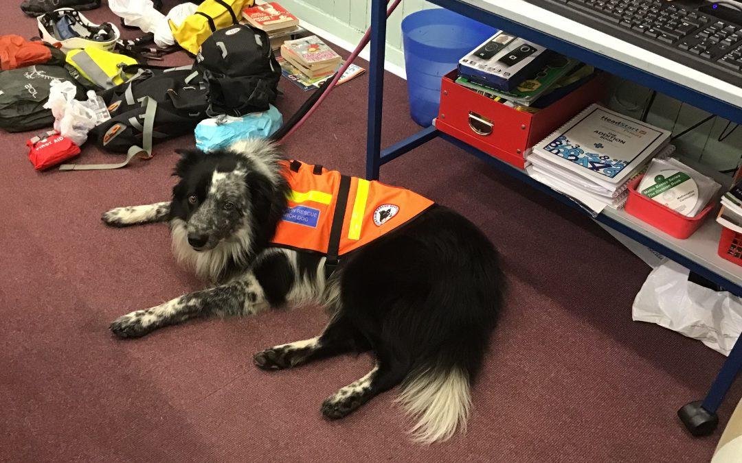 Visit from the mountain rescue team!